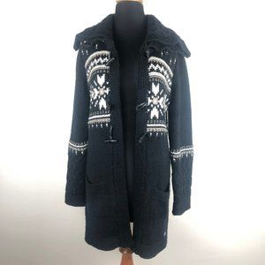 Dale of Norway Thick Knit Wool Cardigan Sweater
